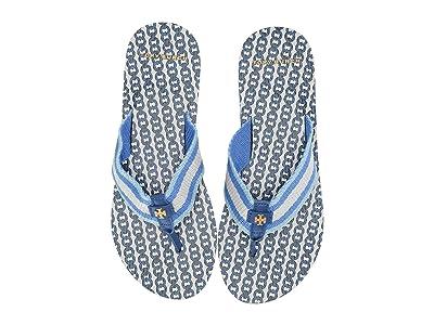 Tory Burch Gemini Link Thin Flip-Flop (Bondi Blue/Bondi Blue) Women