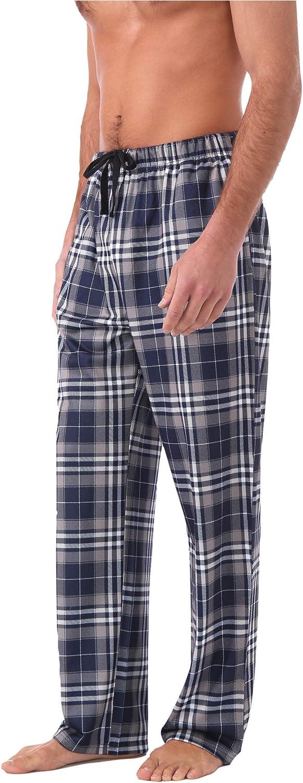 Miller & Jones Mens Luxury PJ Pajama Set Cotton Flannel Sleep Bottom Lounge Pants Casual Sleepwear