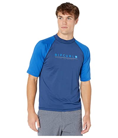 Rip Curl Shockwave Relaxed Short Sleeve UV Tee (Blue) Men