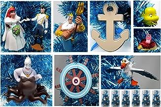 Ornament Little Mermaid Christmas Tree Set Featuring Ariel and Friends - Unique Shatterproof Plastic Design