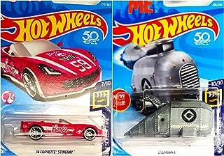 Hot Wheels 14 Corvette Stingray Barbie 273/365 and Grumobile Despicable Me 296/365 2 Car Screen Time Bundle