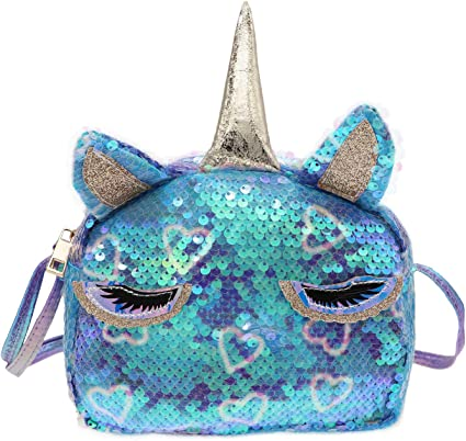 Ladies Girls Kids Purse Coin Bag Sequin Pouch Unicorn Llama Keyring Gift For Her
