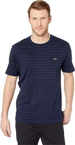 Short Sleeve Jersey Striped Necktape