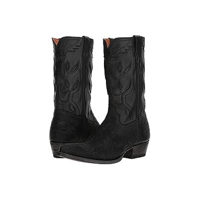 Frye Cheyenne 11L (Black Multi Cut Vintage Leather/Full Grain Brush-off) Cowboy Boots