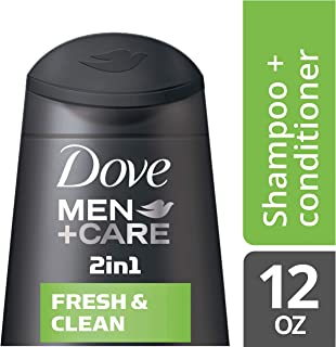 Dove Men+Care 2 in 1 Shampoo and Conditioner Fresh and Clean 12 oz
