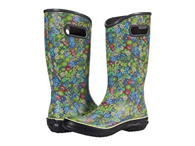 Bogs Rain Boots Night Garden (Dark Gray Multi) Women