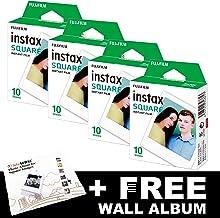 Fujifilm Instax - Lote de 40 películas cuadradas + álbum de fotos