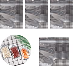 HUIHUIBAO 100 Pack Resealable Aluminum Foil Mylar Zip Lock Bag Bulk Food Storage Bag, 3.3 x 5.5 Inches