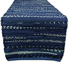 "DII Everyday Machine Washable Chindi Rag Table Runner, 14 X 72"", Nautical Blue"