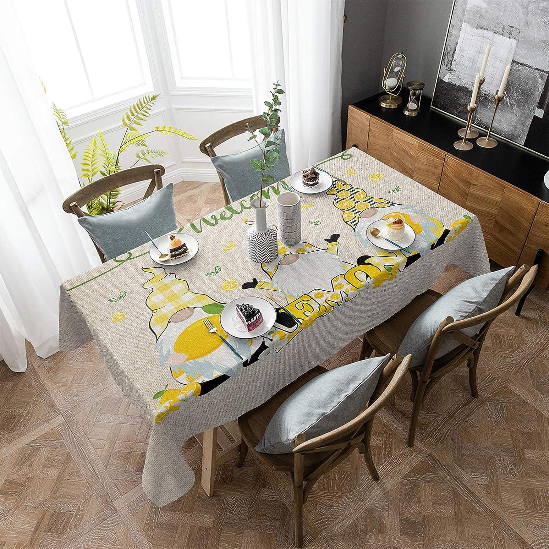 ARTSHOWING Lemon Rectangular Tablecloth Washable trust Tab 60x162inch Louisville-Jefferson County Mall