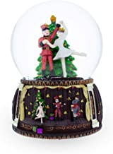 BestPysanky Nutcracker and Ballerina Dancing Around Christmas Tree Musical Snow Globe