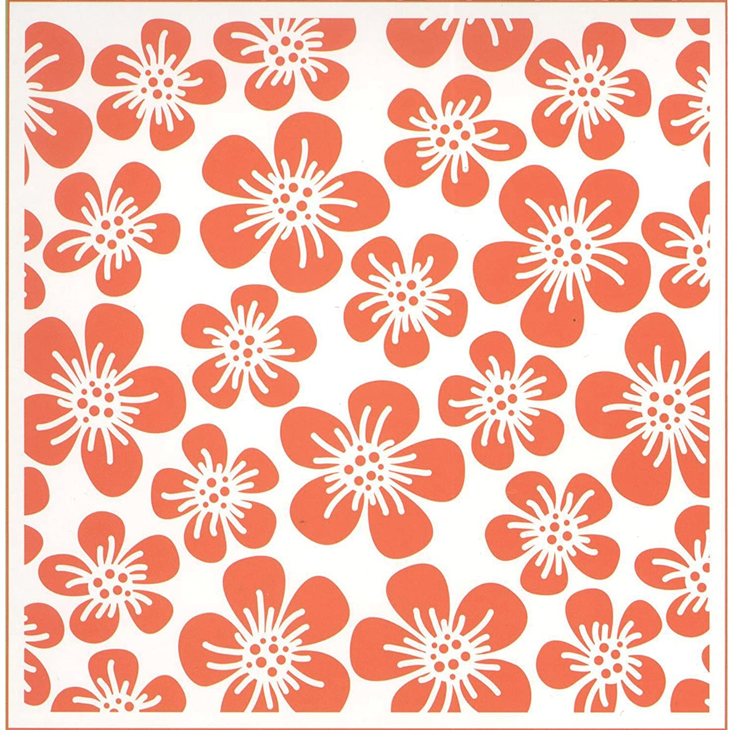 Ecstasy Crafts Marianne Design Embossing Folder, Flowers, 5 by 5-Inch