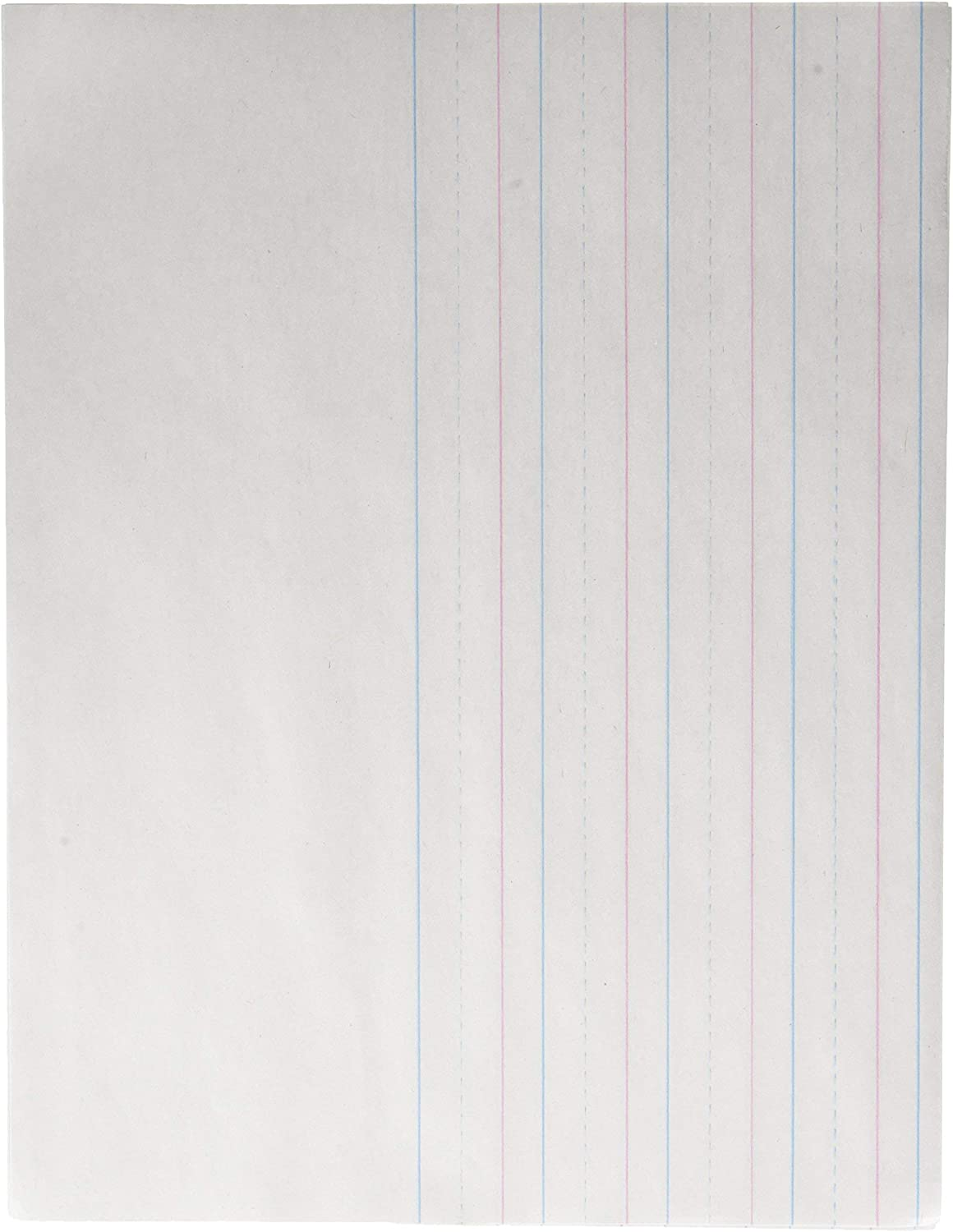School Smart - 85320 Red & Blue Storybook Paper, 3/4 Inch Ruled Long Way, 11 x 8-1/2 Inches, 500 Sheets : Health & Household