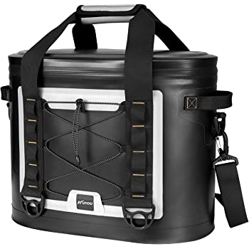 KUYOU Cooler Bag,Insulated Sport Cooler 30 Can Capacity Leakproof Zipper Protective Durable for Camping,Travel, BBQ