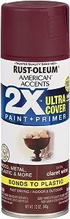 Rust-Oleum 327940-6 PK American Accents Spray Paint, Satin Claret Wine