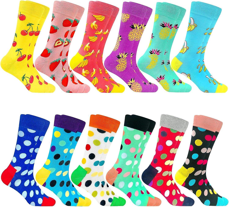 Women's Colorful Dress Socks Fun Patterned Sock Funky Fancy Cute Happy Graphic Crew Socks for Women