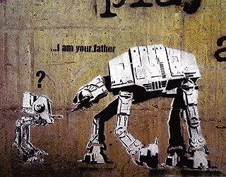 BEYONDTHEWALL Archive Robots I Am Your Father (Star Wars) Urban Graffiti Art Poster Print (11X14 UNFRAMED Print)