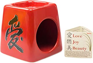 Beacon Streets Zen-Like Liquid Potpourri Simmer Pot. Reduce Stress, Add Beauty & Aroma to Your Home. Attractive Ceramic Warmer Creates Calm Fragrances. Works with Wax Tart Melts & Essential Oil Too.