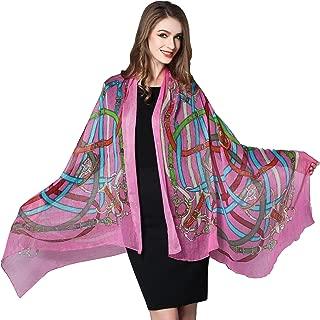 Spring Air Women's 100% Silk Long Fashion Scarf, Georgette Shawl Wrap£¦Headscarf