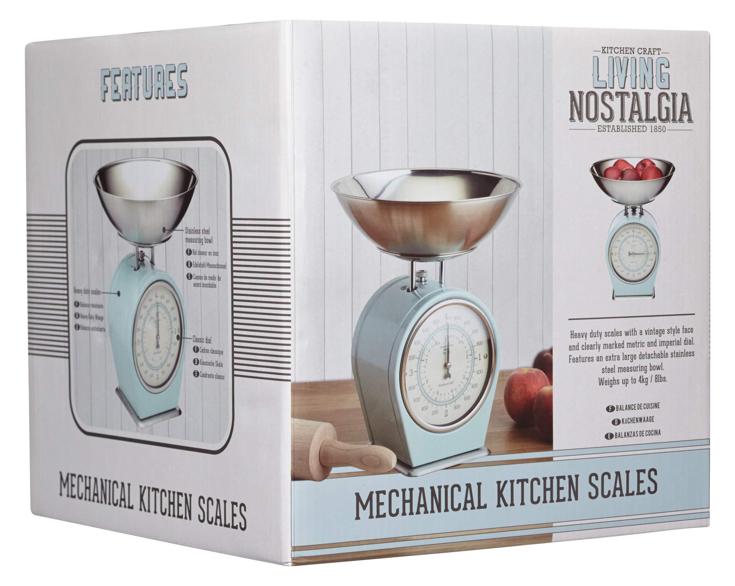 Kitchen Craft Vivir Nostalgia 1-Piece Living Nostalgia Mecánica balanza de cocina, Azul: Amazon.es