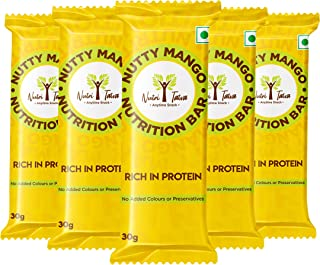 NUTRITATVA Nutty Mango Snackfood bar Nutrition Bar, 30g x 5 Bars- Ready to eat Snack