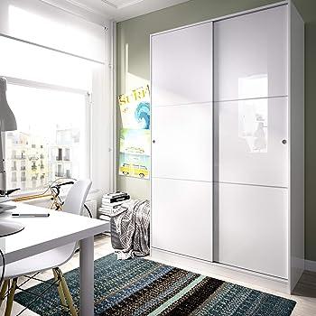 Ikea Kvikne - Armario con 2 Puertas correderas, Blanco - 120x190 ...