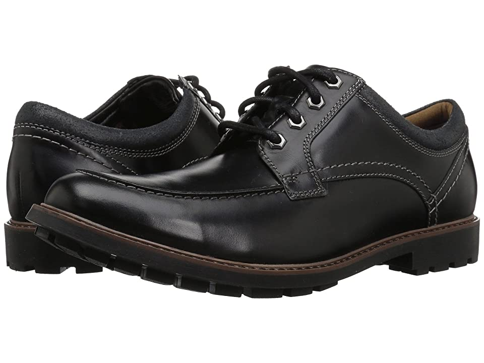 Clarks Curington Walk (Black Leather) Men