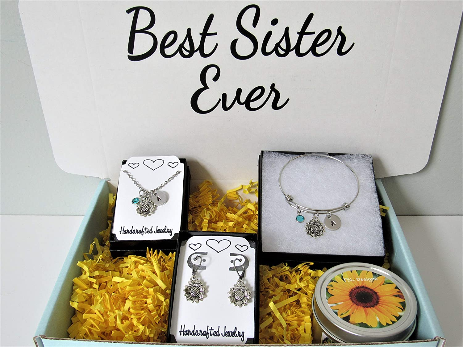 Sister Gift Box Sunflower Jewelry for Ne Max 55% OFF Gorgeous