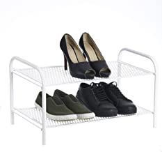 NHR Premium Collapsible, Foldable Metal 2 Tier Shoe Rack