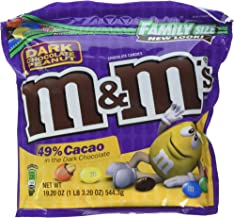 M&M'S Peanut Dark Chocolate Candy Family Size 19.2-Ounce Bag (Pack of 8)
