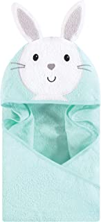 (One Size, Mint Bunny 1-Pack) - Hudson Baby Unisex Baby Animal Face Hooded Towel, Mint Bunny 1-Pack, One Size