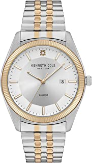 Kenneth Cole New York Men's Classic Japanese Quartz Watch with Stainless Steel Strap, Gold, 22 (Model: KC51022027)