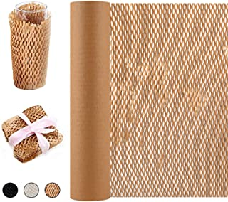 """Packaging Paper Honeycomb Cushioning Wrap Paper Rolls 15""""x98' Eco-Friendly Kraft Packaging Paper for Gift Moving Packing"""