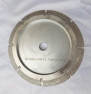 6 Inch Diamond Profile Wheel of 1/2'' Radius Bull Nose Fit on Tile Saw for Granite Marble Countertop (1/2'' Radius Demi Bull Nose)