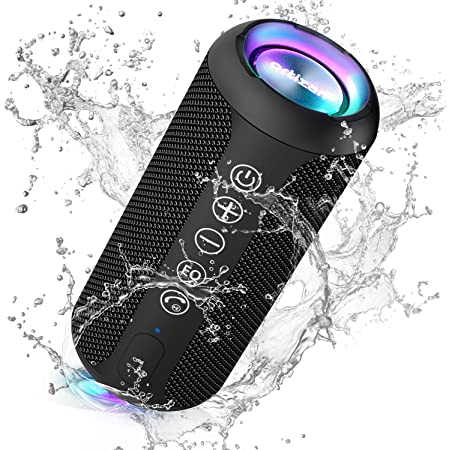 Ortizan Portable Bluetooth Speaker, IPX7 Waterproof Wireless Speaker with 24W Loud Stereo Sound, Outdoor Speakers with Bluetooth 5.0, 30H Playtime,66ft Bluetooth Range, Dual Pairing for Home