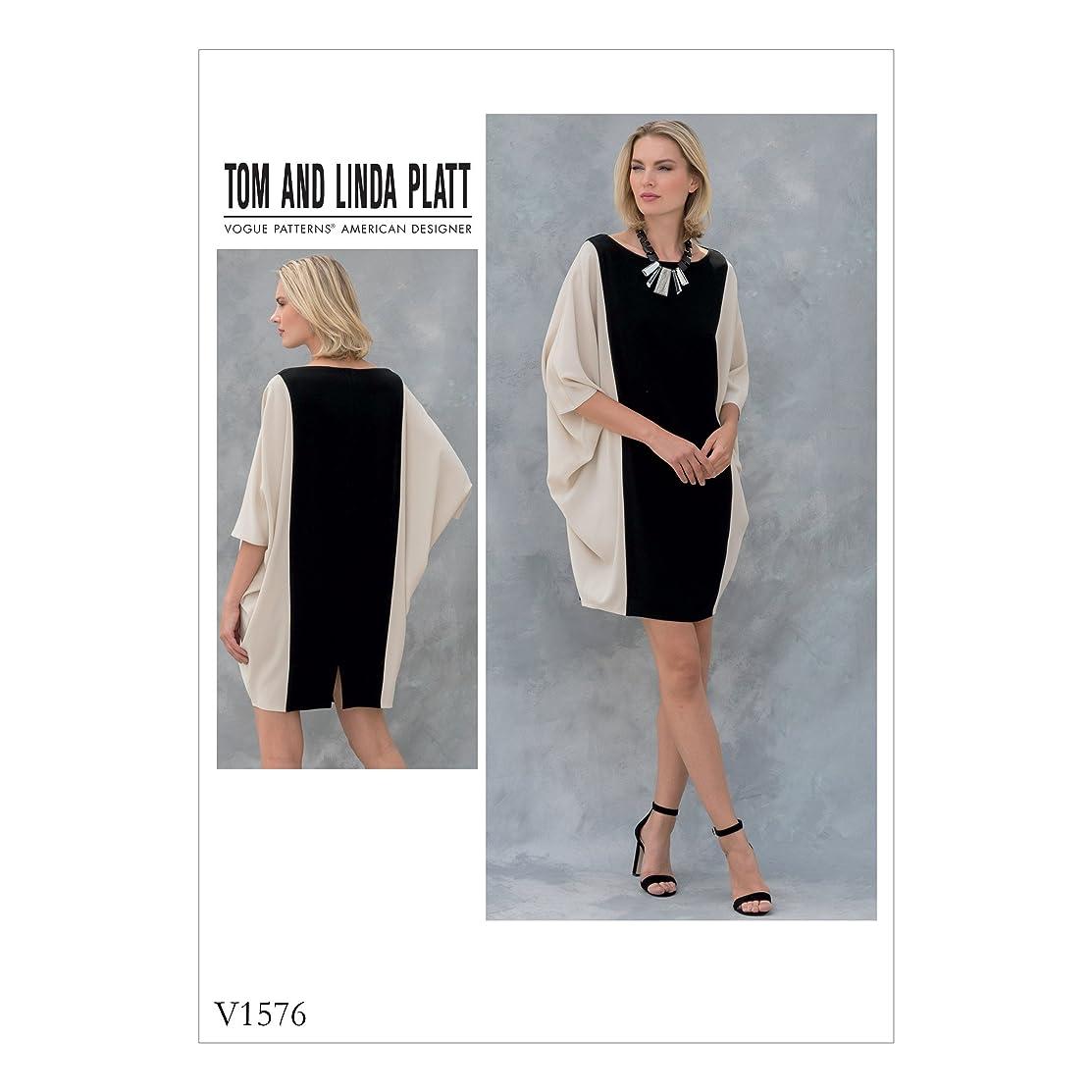 Vogue Patterns V1576OSZ Misses' Dress All Sizes in One Envelope Orange