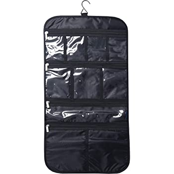 Premium Hanging Toiletry Travel Bag - Cosmetic, Jewelry, Toiletry & Accessory Storage Organizer Bag, Large Size, Various Compartments