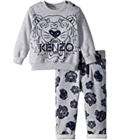 Kenzo Kids - Set Of Tiger Sweater + Printed Fleece Pants (Infant)