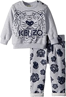 Set Of Tiger Sweater + Printed Fleece Pants (Infant)