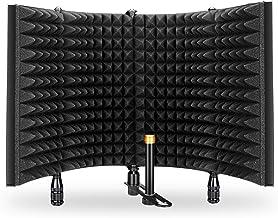 فیلتر Pop، Aokeo Premium میکروفون جداسازی سپر، استودیو قابل تنظیم استودیو ضبط میکروفون پنل ایزولاتور ساخته شده با آلومینیوم با کیفیت صنعتی (AO-504)