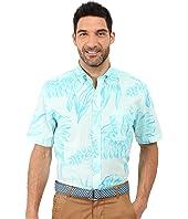 Vineyard Vines - Seaweed Print Short Sleeve Classic Murray Shirt