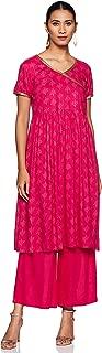 Amazon Brand - Tavasya Women's Angrakha Salwar Suit Set