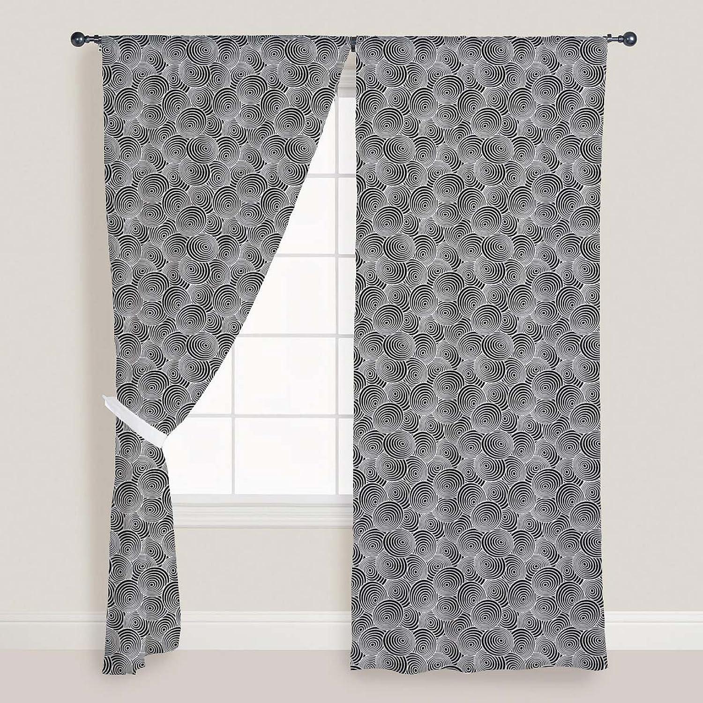 descuentos y mas ArtzFolio Circled Life Door & & & Window Curtain Satin 4Feet X 6Feet; Set of 3 Pcs  100% precio garantizado