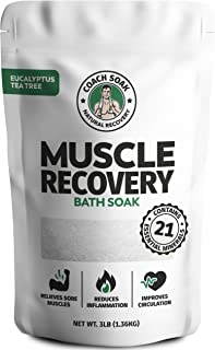 Coach Soak: Muscle Recovery Bath Soak - Natural Magnesium Muscle Relief & Joint Soother - 21 Minerals, Essential Oils & De...