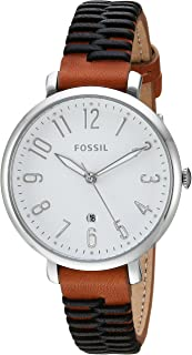 Fossil Women's 'Jacqueline' Quartz Stainless Steel and Leather Casual Watch, Brown (Es4208), Analog Display