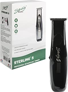 Wahl Professional Sterling 5 Trimmer #8777 – Great for Professional Stylists and Barbers –Rechargeable rotary motor trimmer with NiMH battery