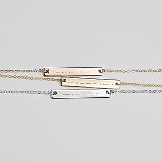 Morse Code Necklace Morse Code Jewelry Sister Gift Sister Necklace Sister In Law Gift High School Graduation Gift - 9N-MC