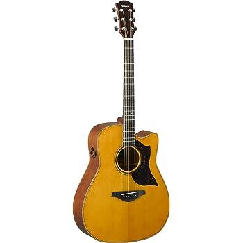 Yamaha 6 String Series A3M Cutaway Acoustic-Electric Guitar-Mahogany, Vintage Natural, Dreadnought VN