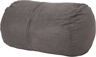 Christopher Knight Home Nyla Fabric Bean Bag, Charcoal
