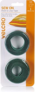 VELCRO Brand for Fabrics - Sew On Fabric Tape for Alterations and Hemming - No Ironing or Gluing - Ideal Substitute for Sn...